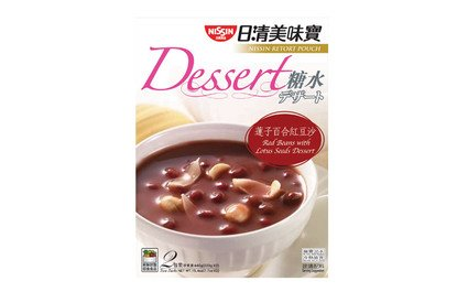 Nissin Retort Pouch Dessert Red Beans with Lotus Seeds