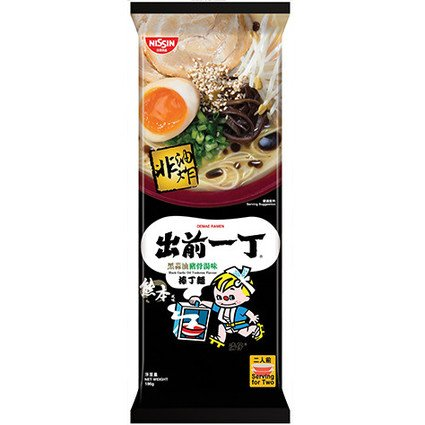 Demae Iccho Bar Noodle Black Garlic Oil Tonkotsu Flavour